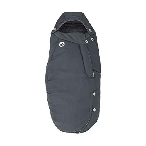 Maxi-Cosi Fußsack, kuschelig warmer Universal Winterfußsack, passend für fast alle Kinderwagen und Buggys, nutzbar ab der Geburt bis ca. 3,5 Jahre, essential graphite