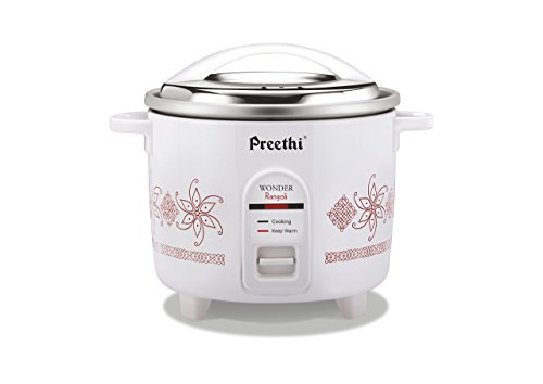 Preethi RC-320 1.8-Litre Double Pan Rice Cooker (White)