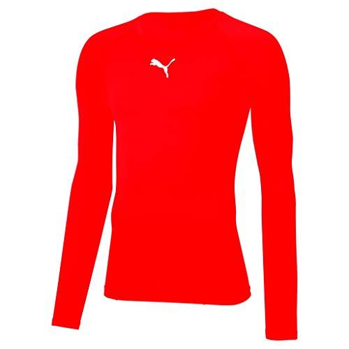 PUMA Liga Baselayer Tee LS, Maglietta Uomo, Rosso Red, L