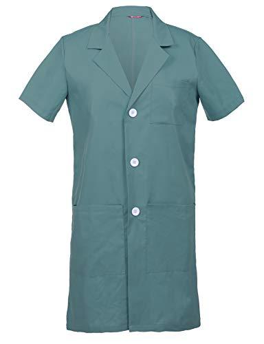 TAILOR'S Uomo Camice da Laboratorio Laboratorio Medico Abbigliamento da Lavoro Maniche Corte