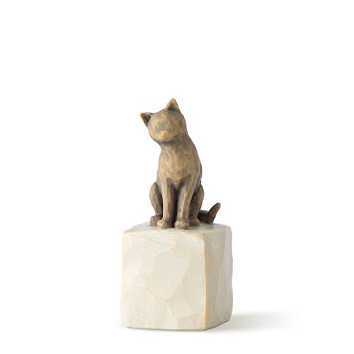 Willow Tree 27684 Figur Love My Cat Figurine, Resin, mehrfarbig, 2,5 x 2,5 x 7,3 cm