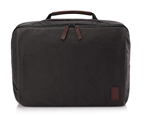 HP Spectre Folio Topload Laptoptasche (15,6 Zoll, gewachstes Segeltuch, RFID, Kofferhalterung) braun