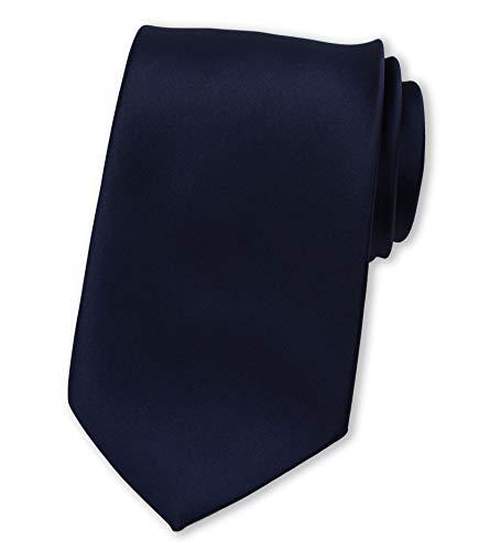 Puccini Herren Clip-Krawatte, vorgebundene Ansteckkrawatte, ideal als Sicherheitskrawatte, Security, Junggesellenschied, Homeoffice (Pilotenblau)