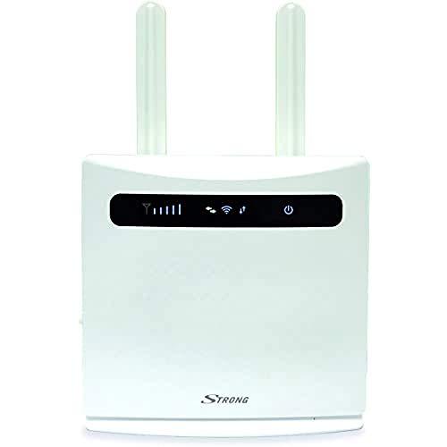 Strong Router Wifi 300 4G LTE, 2 Adattatori Sim, 4 Porte Ethernet LAN, 2 Antenne Rimovibili, Velocità Connessione Con Dispositivi Wifi Fino 300 Mbit/s, Router 4G Compatibile Con Qualsiasi Operatore