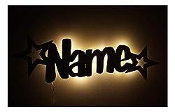 """Led Möbel Nacht-Lichter Lampe""""Stern-Funkeln"""" mit individuell-em Name-n Personalisiert-e Baby Geschenk-e zur Taufe Geburt Kommunion"""
