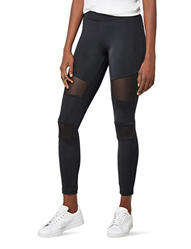 Urban Classics Ladies Tech Mesh Leggings, Leggings Donna, Nero (Black 00007), W27 (Taglia Produttore: Small)