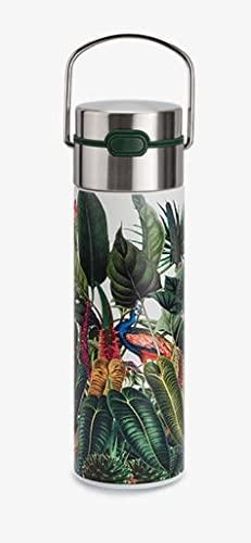 Leeza Rainforest - Bottiglia in acciaio INOX, a doppia parete, 500 ml