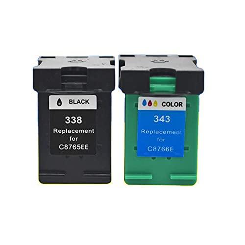 YXYX Cartuchos de tóner compatibles con HP 338 343 para HP Deskjet 460C 5740 5745, colores vivos