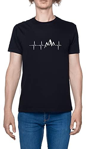 Heartbeat Mountains Herren T-Shirt...