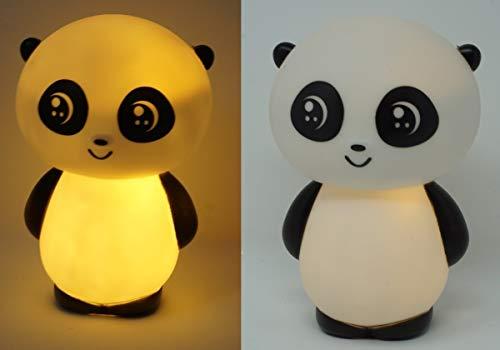 CBK-MS. Nachttischlampe Panda Bär LED Leuchte Baby Lampe Deko Nachtlicht Schlummer Licht 15 x 10 cm Batteriebetrieb incl. Batterien