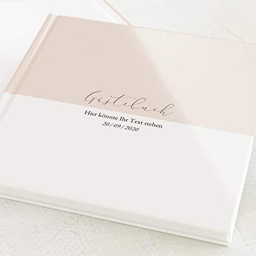 sendmoments Gästebuch, zum Auslegen und Eintragen, Pastell-Farbe, personalisiert mit Wunschtext,...