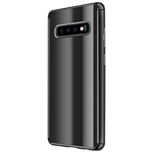 Hülle Compatible with Samsung Galaxy S10 Hülle 3 in 1 Slim Glatt Hard PC Oberfläche 360 Komplett Anti-Kratzer Bumper S10 Cover für Samsung Galaxy S10 Phone 2019 (S10, Black)