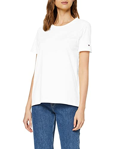 Tommy Hilfiger TH Cool ESS Relaxed C-nk tee SS Camiseta para Mujer