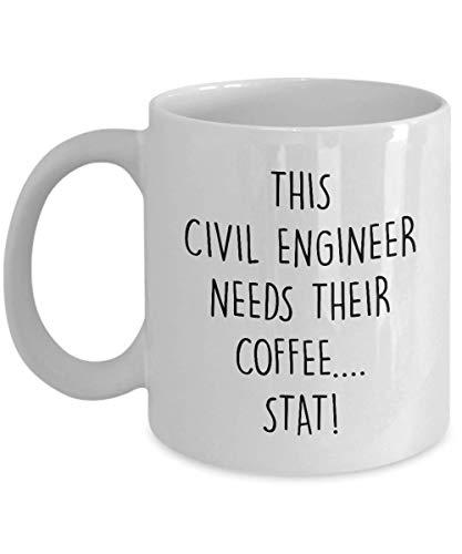 N\A Taza Divertida del Ingeniero Civil Este Ingeniero Civil Necesita su café Idea de Regalo de la Novedad Taza del té del café