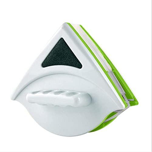 MINGPINHUIUS Herramienta de Limpieza Vidrios para Ventanas de Una/Dos Cara, Limpiador de Superficies Magnéticas Cepillo de Limpiaparabrisas Útil para Ventanas de Vidrio Grandes Vidrio Simple con Un Grosor de Una 5-12/Doble 15-24 Mm (Verde/Blanco Doble 20-30Mm)