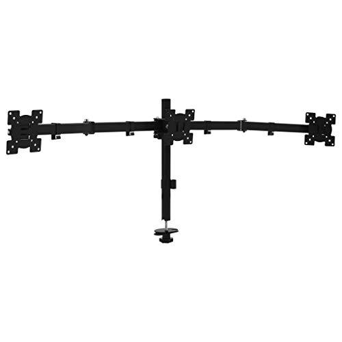 vidaXL Soporte triple de monitor para escritorio 13'-27'