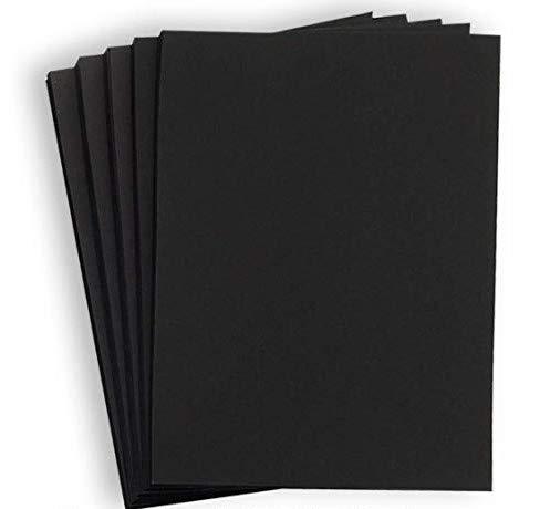 Hamilco Black Colored Cardstock Paper - 8 1/2 x 11