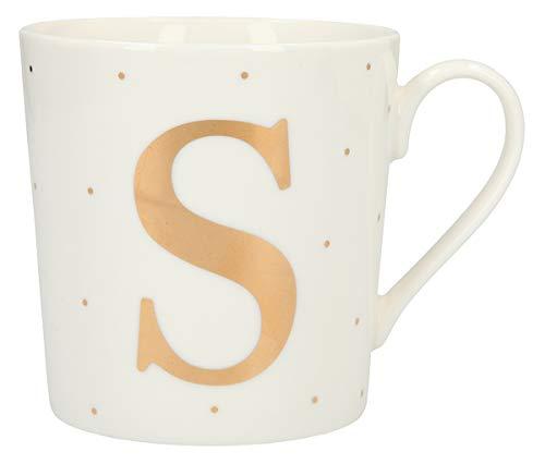Depesche 5909.045 Tasse mit Henkel, aus Porzellan, 300 ml, mit Aufschrift, S, Mehrfarbig