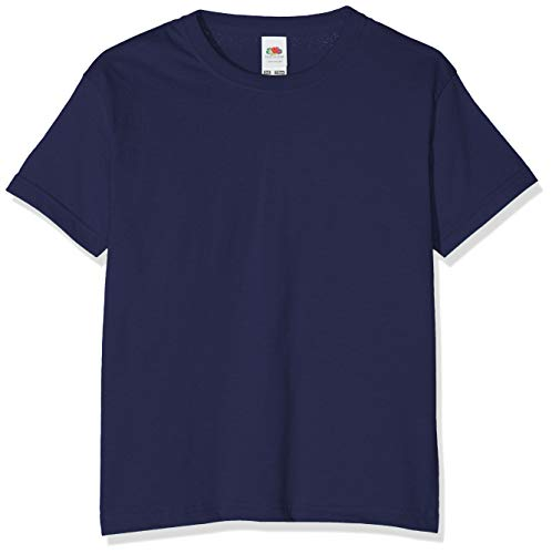 Fruit of the Loom Childrens T Shirt in Navy Size 3-4 (SS6B)