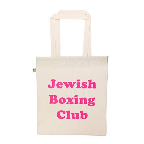 KraftworkN7 Jüdische Box-Club-Einkaufstasche, Natur/Pink, Einheitsgröße