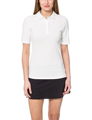 Ultrasport Damen Tennispoloshirt Auckland, Weiß, L
