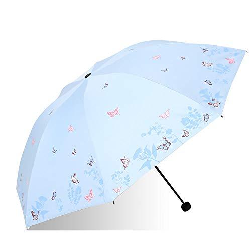 Reisparaplu Glasvezel Rib Staal Schacht Regendicht Compact Vouwen En Zonnescherm Paraplu voor Lady's Paraplu