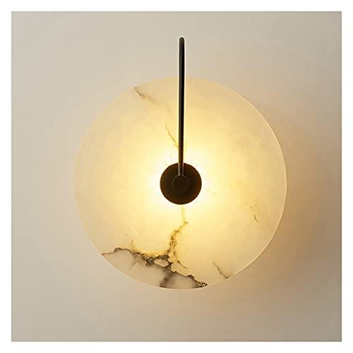 WHTYY iluminación Impermeable Lámpara de Pared de Piedra Lámpara de mármol Natural Pantalla de Metal Interior Interior Luces de Pared Estilo Chino Sala de Estar Sala de Estar