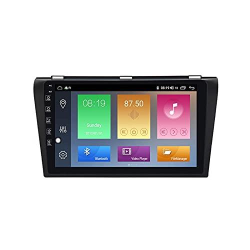 Android 10.0 Car Radio Stereo 1 DIN para Ma zda 3 2004-2009 Navegación GPS IPS Pantalla táctil Reproductor Multimedia MP5 Receptor de Video con 4G WiFi SWC USB Carplay