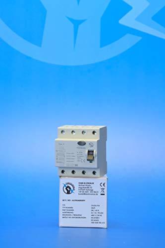 FI/RCD Typ B - Allstromsensitiv - 40A 4-Polig 0,3A / 300mA