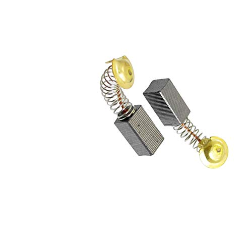 Aexit 8 Pcs Electric Motors Spring Type Motor Carbon Brushes 33/64i_n x 19/64i_n x 15/64i_n for Hitachi 100 Permanent Magnet Motors Angle Grinder