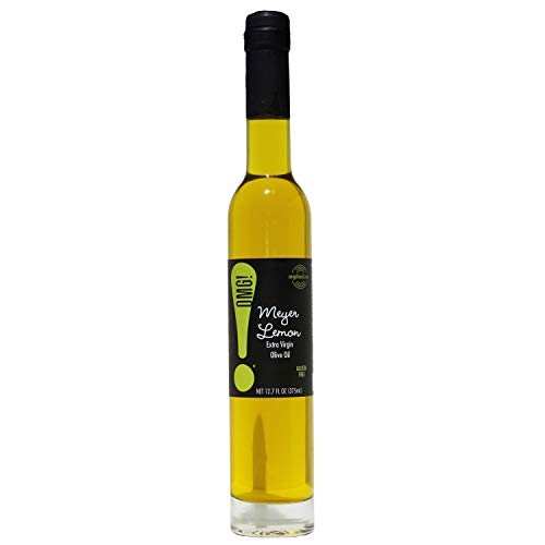 OMG!: Delicious Meyer Lemon Extra Virgin Olive Oil | As found in Pike Place Market (Perfect for cooking, breads, veggies, salads, and marinades), 375ml/12.7oz