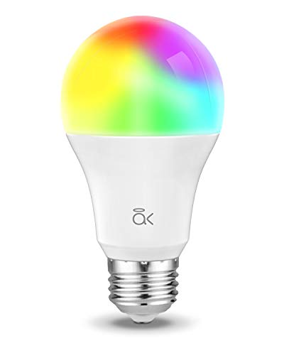Smart Light Bulb, Works with Alexa, Echo, Google Home and Siri, AL Abovelights Dimmable E26 9W Wi-Fi LED Smart Bulb, Warm White (2700K), 60W Equivalent, 810 LM, RGB+W, ETL Listed (1-Pack)