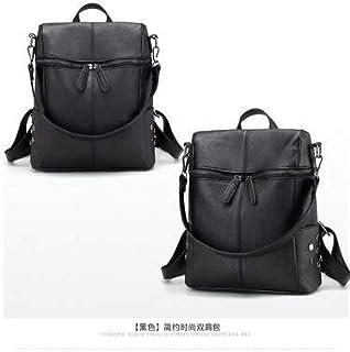 Gimax Backpacks - by DHL or EMS 50pcs Simple Style Women PU Leather Backpacks for Teenage Girls School Bags Fashion Vintage Solid Shoulder Bag - (Color: Black)