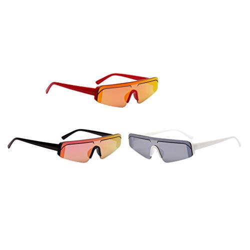 Sharplace - 3 gafas de sol para mujer, estilo elegante, gafas de verano clásicas, protección UV