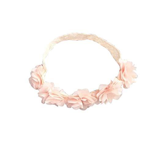 Roze bloem hoofdband elastische zachte haarband chiffon bloemen hoofdband voor meisjes