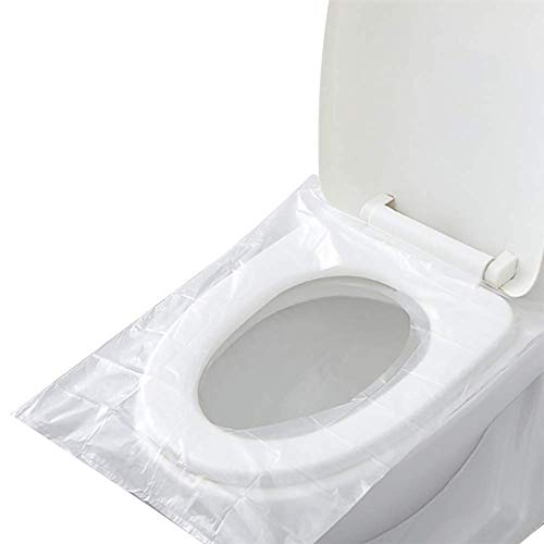 Protector WC Desechable Impermeable, 60 PCS Paquete Individual Material Antibacteriano
