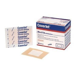 Coverlet Patches Adhesive Bandage 4' x 2-3/4' , Extra-large ,Latex-free, (Box of 50)