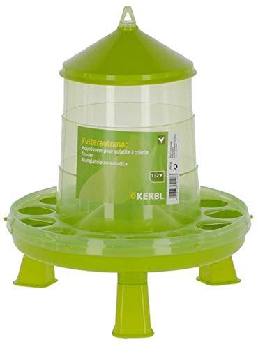 Kerbl Futterautomat mit Stand-Füßen, für Geflügel (Küken/Hühner/Enten), lebensmittelecht (12 kg)