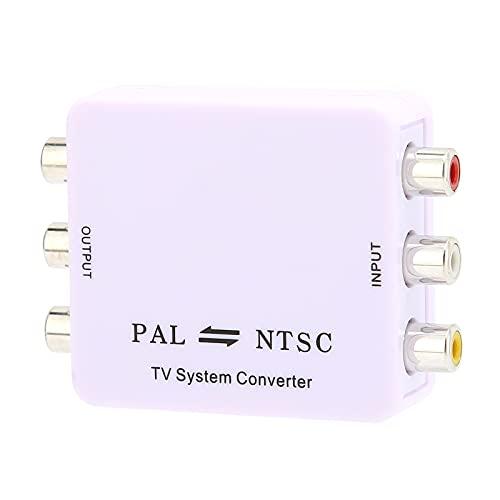 01 NTSC PAL Mutual Converter, Convertidor De Audio Y Video Digital Práctico Portátil para Grabadores para Monitores De Video para Videocámaras para Videograbadoras para Reproductores De DVD