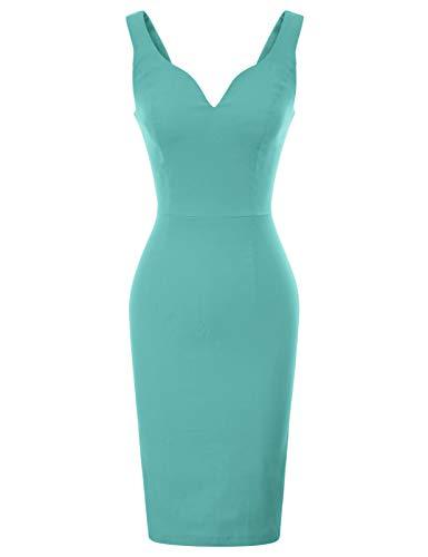 GRACE KARIN bleistiftkleid Rockabilly Business Kleid festlich etuikleid CL987-9 2XL