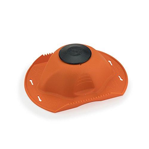 Börner original Sicherheitsfruchthalter für Hobel und Reibe (orange/schwarz FH29003)