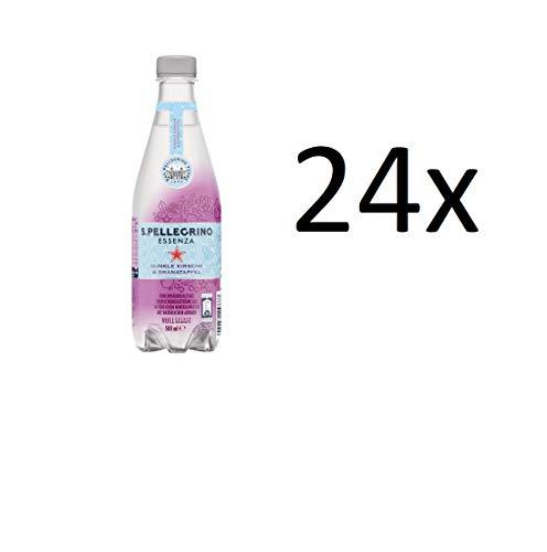 24 Flaschen San Pellegrino Essenza dunkle Kirsche & Granatapfel a 500ml inc. EINWEG Pfand PET Flasche