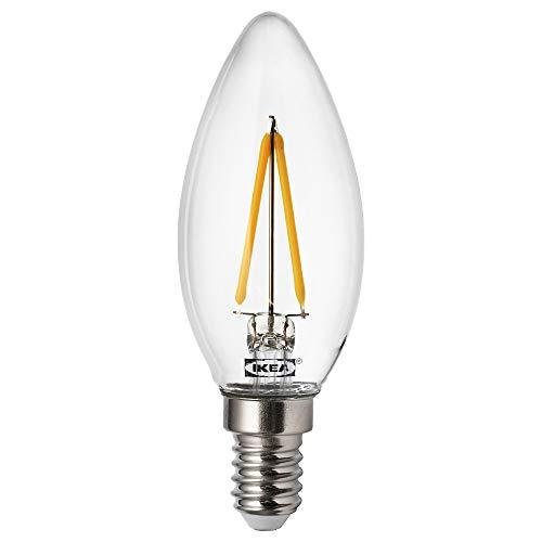 RYET LED-lampa E14 200 lumen Ø3,3 cm ljuskrona/klar