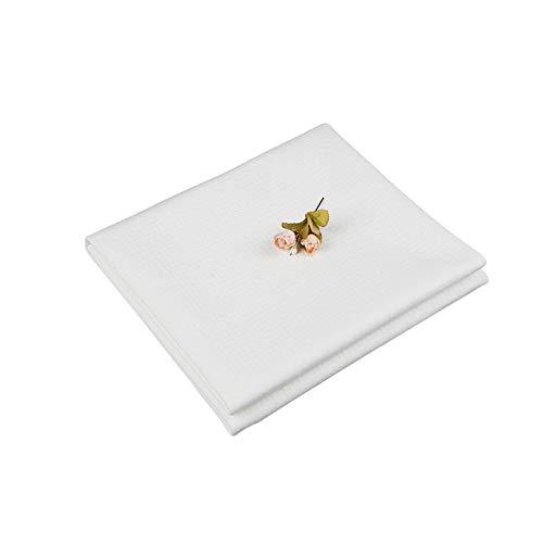 LIUQIGRASS Incontinence Wasbaar Bed Pad, Waterdicht Matrasbeschermer, Incontinentie Beschermer voor Baby Peuters Volwassenen, Herbruikbaar Matras, Wit (100 * 140cm)