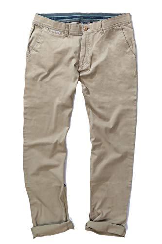 JP 1880 Herren große Größen bis 35, Chino, elastischer Bundband, 2 seitliche Taschen, Normale Oberschenkel- und Beinweite, Normale Fußweite, Sand 52 721190 22-52