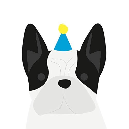 Franse Bulldog (BLK & WHT) Verjaardagskaart door Heather Alstead