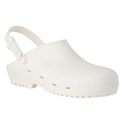 REPOSA Safe Zuecos Sanitarios, Zapatos Sanitarios Tipo Zueco, con Puntera, polímero...
