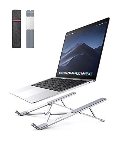 UGREEN Soporte Portátil para Mesa Plegable, Soporte para Ordenador Portátil Altura Ajustable Soporte Ventilado de Aluminio Laptop Stand Compatible con MacBook Air Pro, ASUS HP Surface Lenovo 8-17.3'