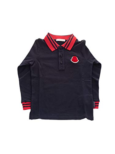 Moncler Luxury Fashion Baby 8B703208496F778 Blau Baumwolle Poloshirt | Herbst Winter 20