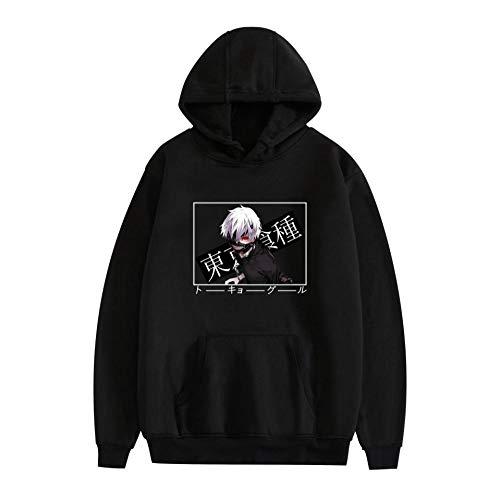 Unisex Tokyo Ghoul Kapuzen Pullover Kordeltasche Design Hoodie Größe-A_XXXL